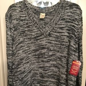 Faded Glory Gray Sweater 1X - 16W NEW With Tags.